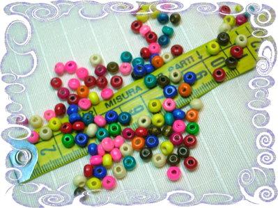 100 perline di legno, mix colori,