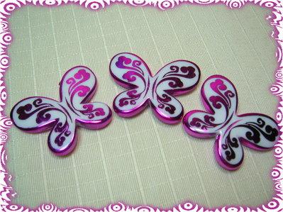 3 Farfalle acriliche FUXIA