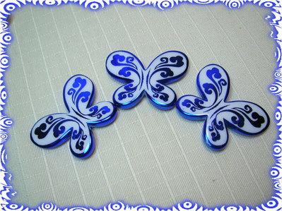3 Farfalle acriliche AZZURRO
