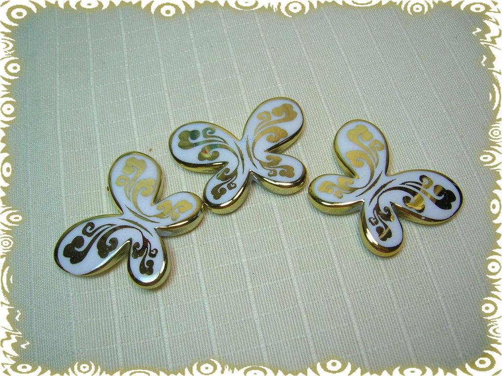 3 Farfalle acriliche GIALLO DORATO