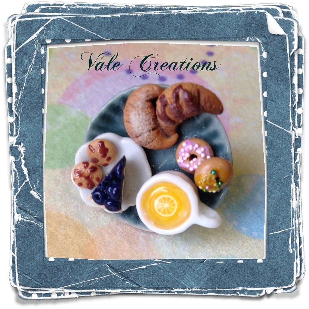 """Anello miniature in fimo serie """"Tea Time"""""""