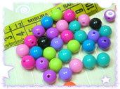 50 perline plastica colorate,  mix assortito,