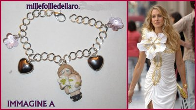 """Bracciale in fimo """" the vip's """" Carrie Bradshaw di Sex and the city"""