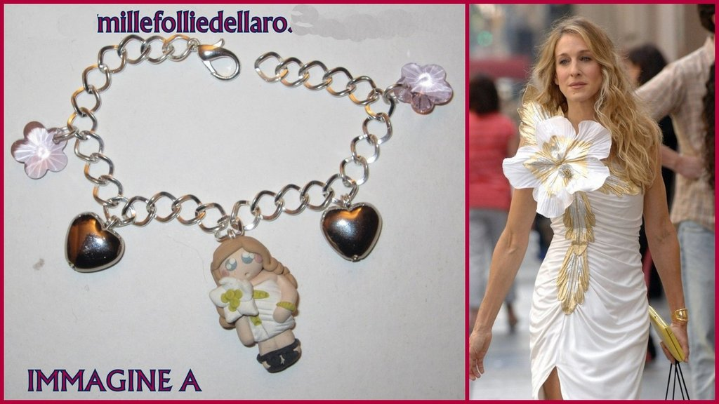"Bracciale in fimo "" the vip's "" Carrie Bradshaw di Sex and the city"