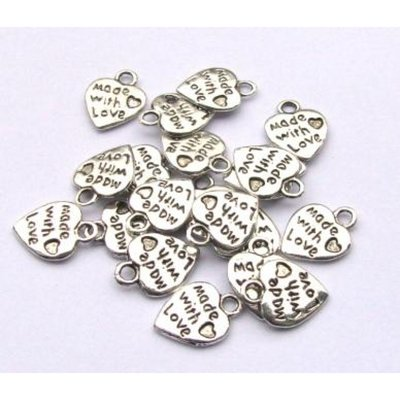 "15 charm "" made with love"""