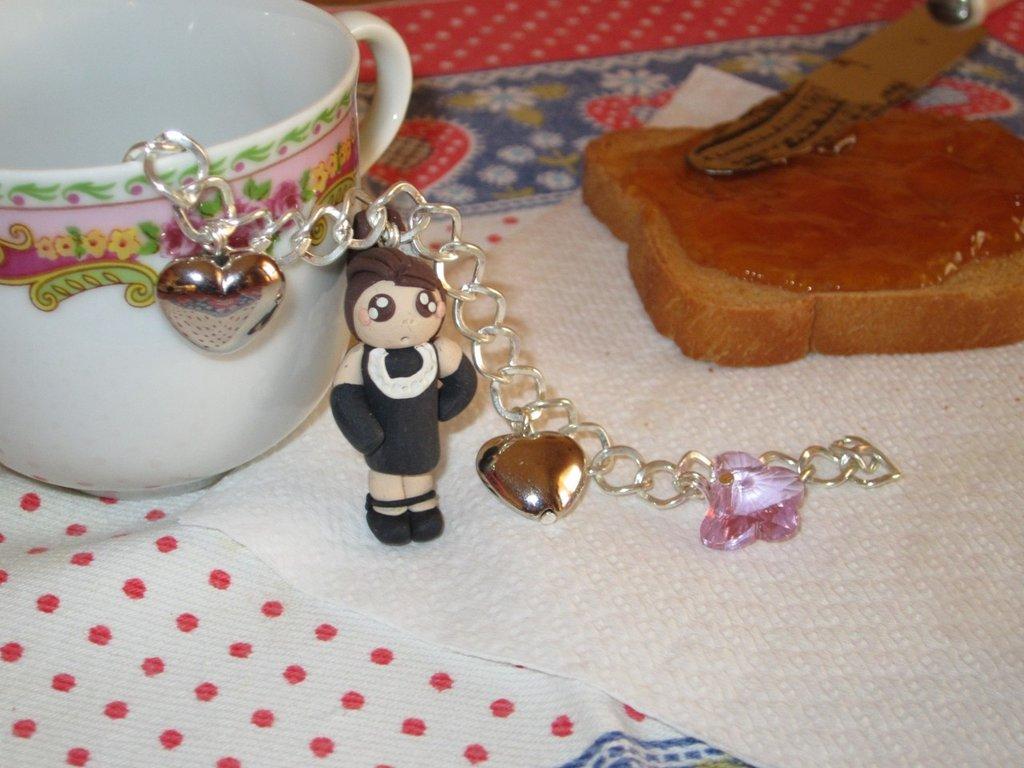 """Bracciale in fimo """" the vip's """" Audrey Hepburn in colazione da tiffany"""