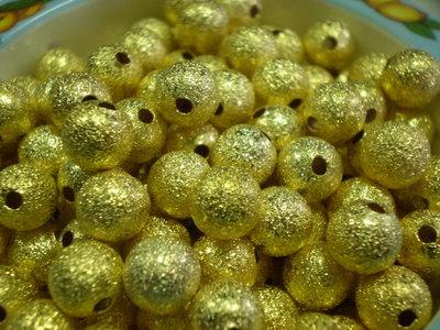 10 Perline Polvere di Stelle color ORO 8 mm.