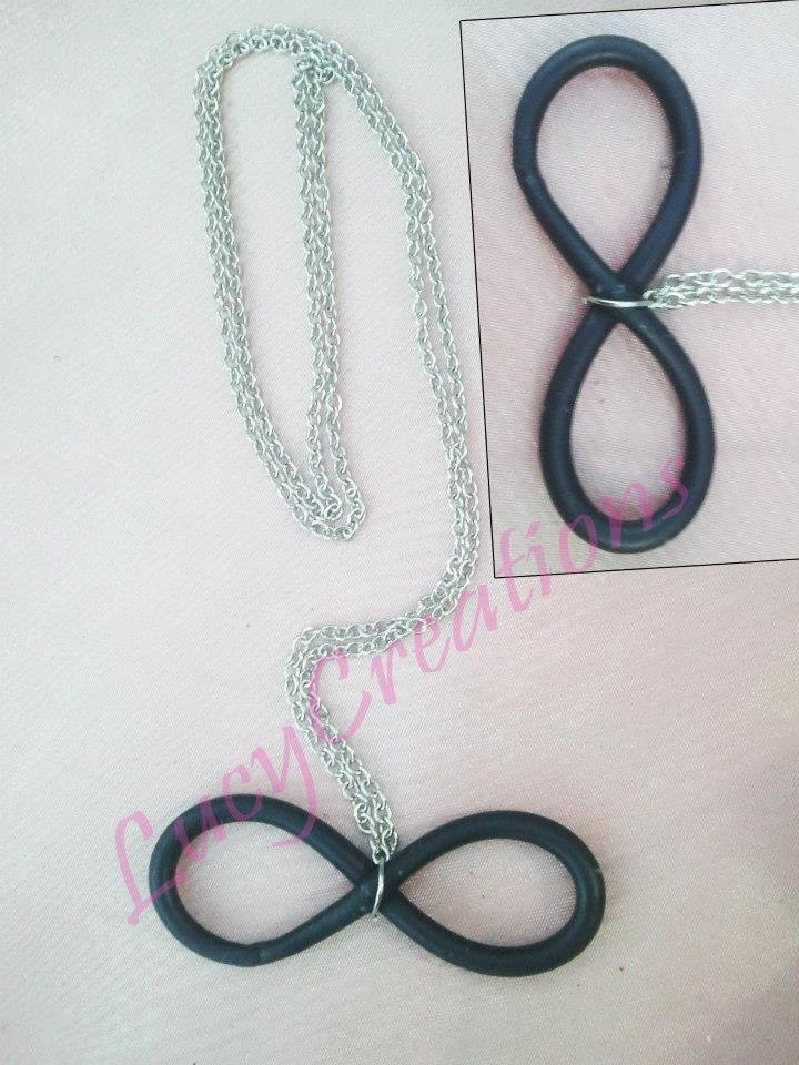 Collana Infinity in fimo