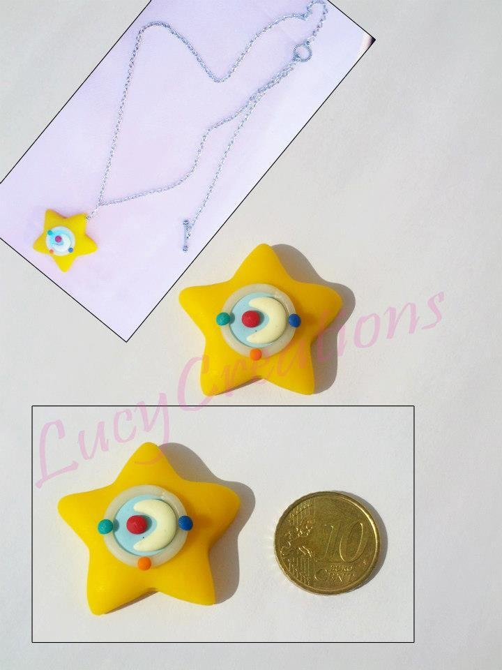 Collana ciondolo Sailor Moon in fimo