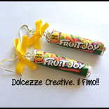 Orecchini Fruit Joy in fimo e cernit, miniature, caramelle, idea regalo