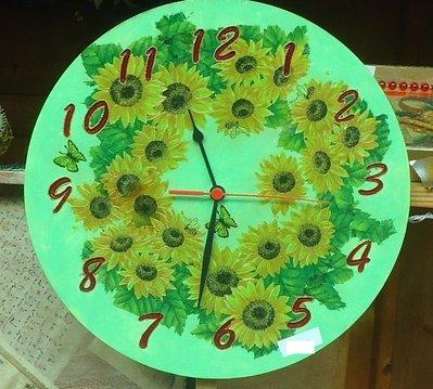 """orologio in legno """"primavera"""""""