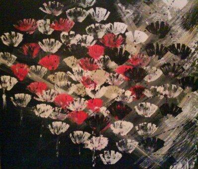 fiori su sfondo nero
