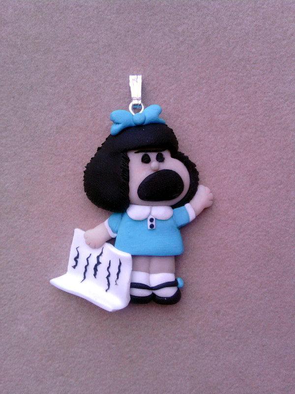 Ciondolo con Mafalda fimo