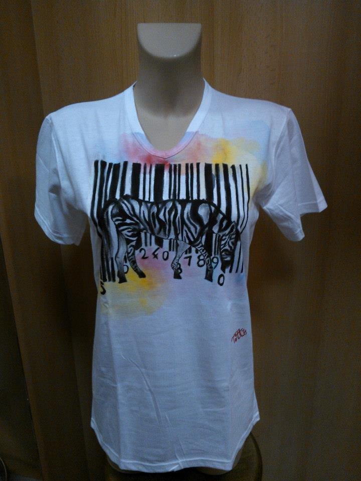 Zebra T-shirt codice a barre