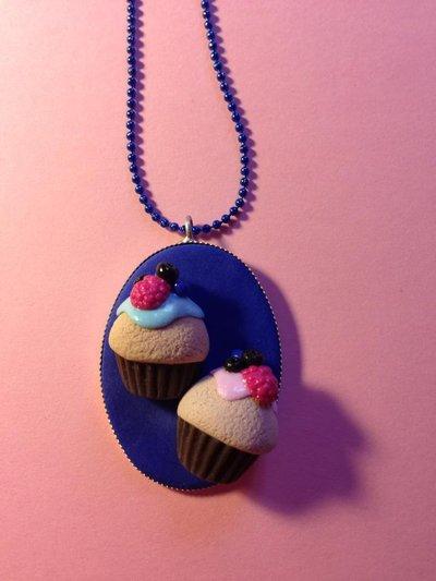 "Collana ""CUP CAKE BLUE"""