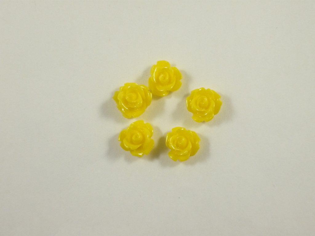 Cabochon, roselline in resina, 10 mm  mix di colori   10 pezzi 0.50 euro