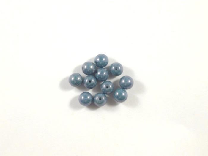 Round Beads ,Blue Luster , 6 mm, 15726  Confezione da 30 pezzi 1.20 euro
