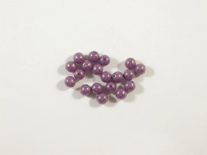 Round Beads , Lila Luster , 6 mm, 65431  Confezione da 30 pezzi 1.20 euro