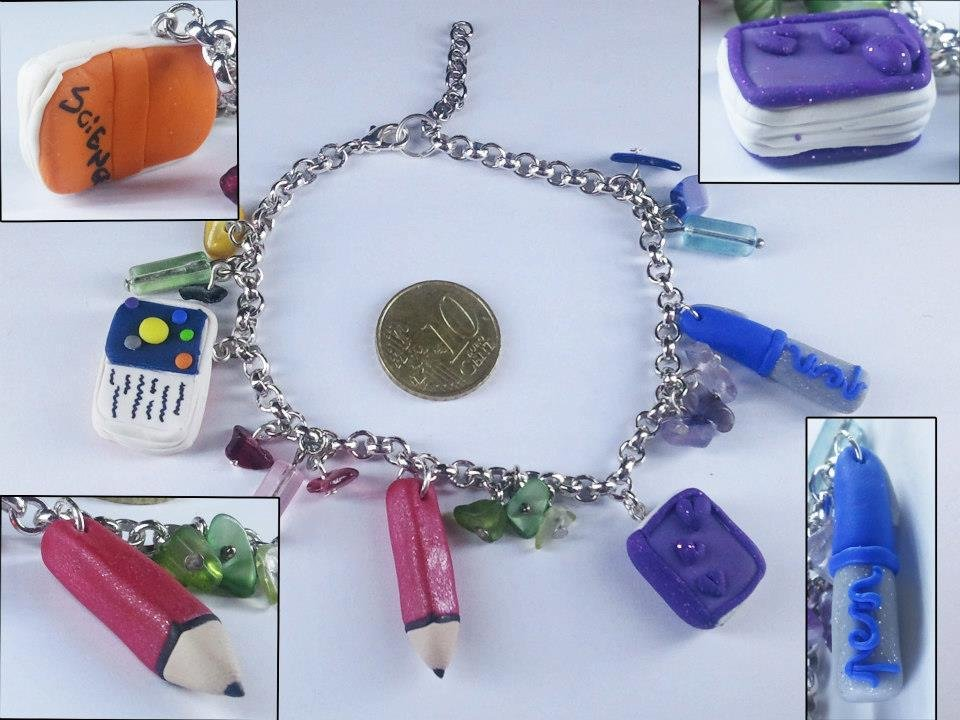 Bracciale School time in fimo