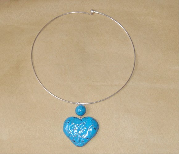 Collier cuore turchese
