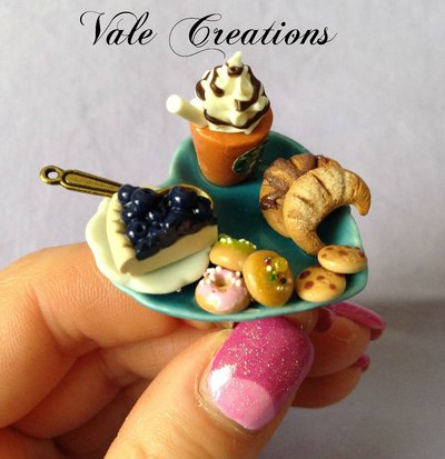 Anello miniature in fimo serie Café Starbucks