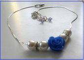 Collana blu rose