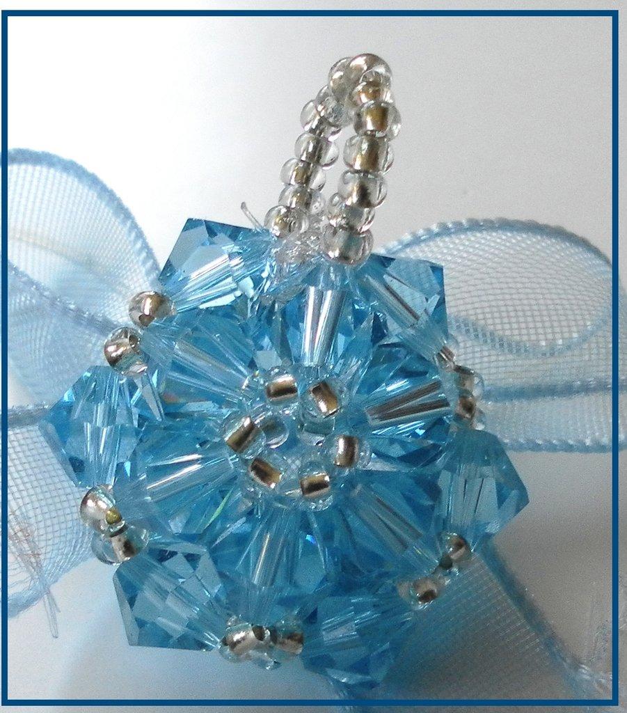 Ciondolo white and blu