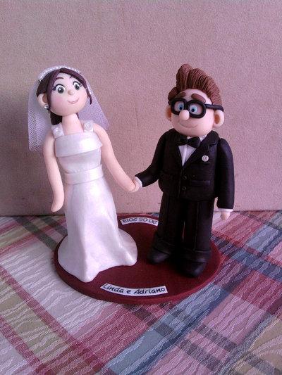 Statuetta/Cake topper con sposini fimo