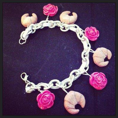bracciale croissants e rose