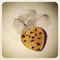 collana biscotto a cuore