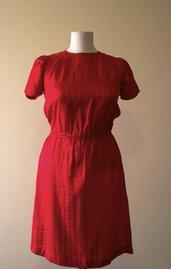 Red 1980's vintage dress