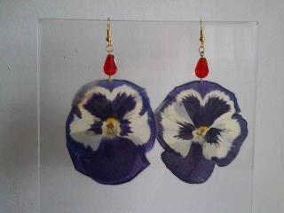 orecchini con fiori veri