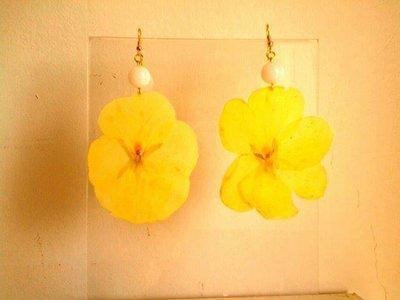 orecchini con fiori veri!
