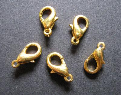 Moschettoni 12mm color oro 20 pz