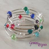 Bracciale armonico rondelle mix di colori