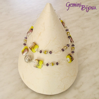 Collana purple yellow