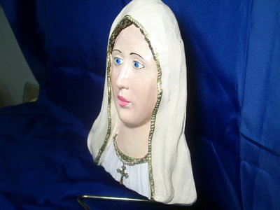 scultura altorilievo madonna