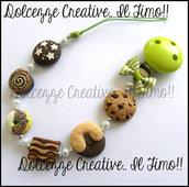 ★★SALDI Portaciuccio Baby -UNISEX- verde - cookie, tegolini, abbracci, pan di stelle, dirella, donut