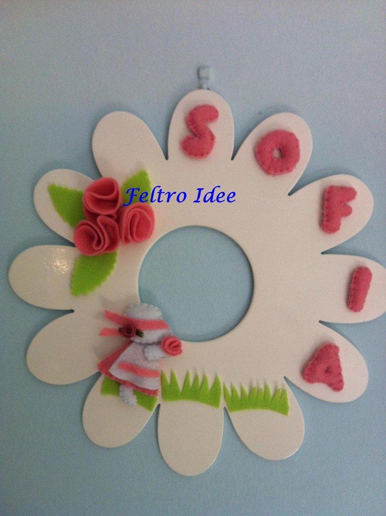 Fuori porta - fiocco nascita decorato a mano