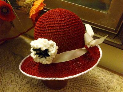 cappellino estivo di cotone bordo per bimba  5-8 anni