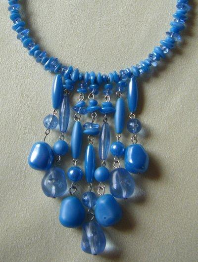 collana collarino rigido  girocollo , con pendenti