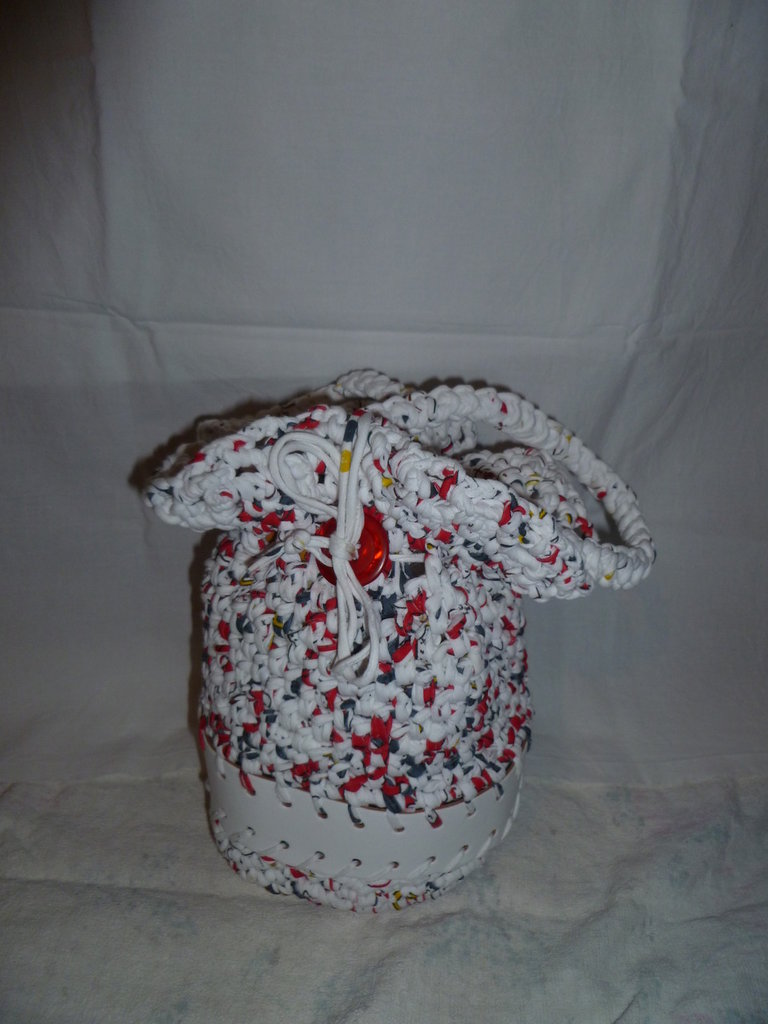 borsa fettuccia fatta a mano per bimba
