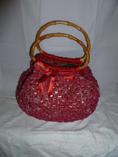borsa fettuccia fatta a mano
