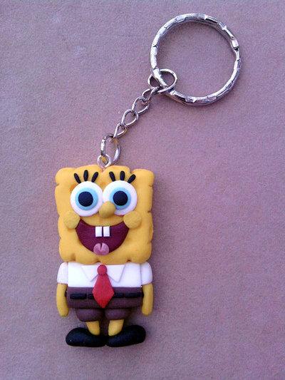 Portachiavi con Spongebob fimo