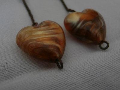 """""""Heart of Amber"""" Earrings"""