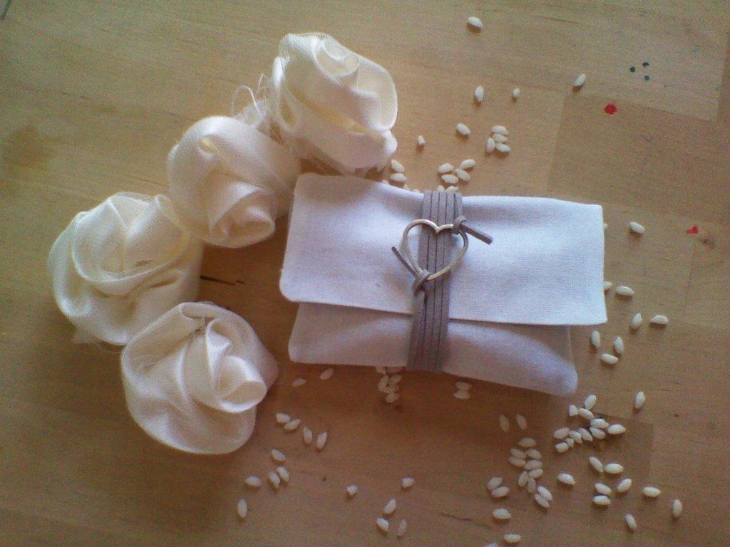 portaconfetti - bomboniera (grigio bianco)