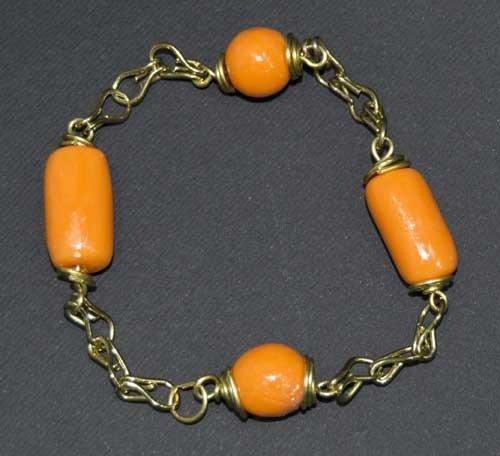 Bracciale wire arancio