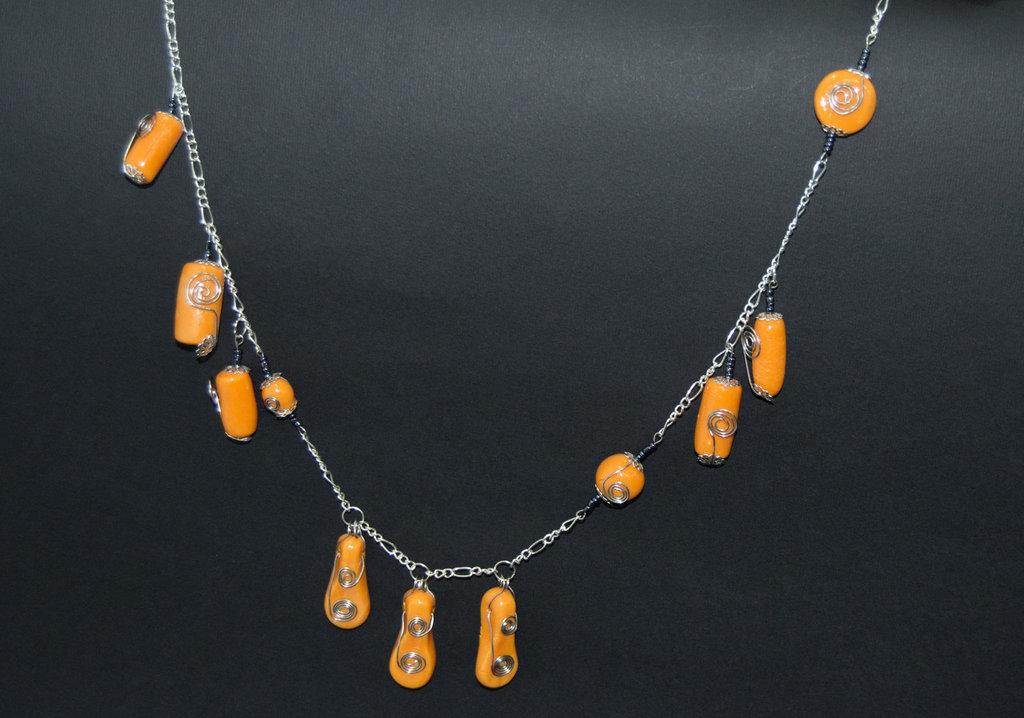 Collana wire arancio