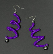 Orecchini spirale viola