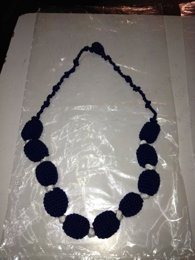 Collana BIanca e Blu